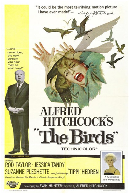 The Birds movie poster Alfred Hitchcock